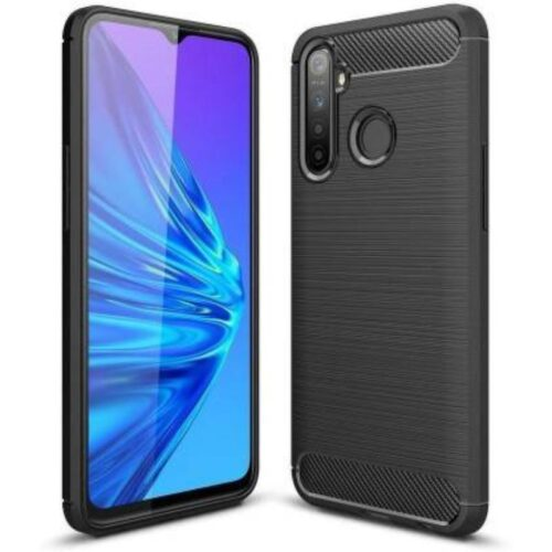 Realme 5 Pro Back Cover Case Soft Hybrid Black Color 1