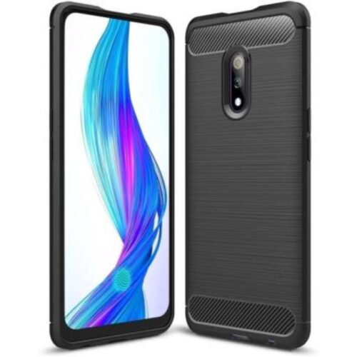 Realme X Back Cover Case Soft Hybrid Black Color 1