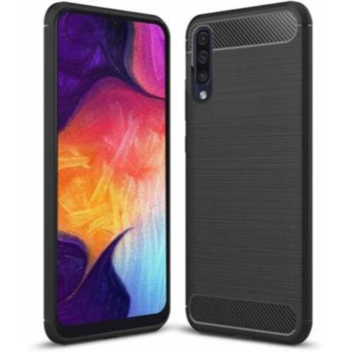 Samsung Galaxy A30s Back Cover Case Soft Hybrid Black Color 1