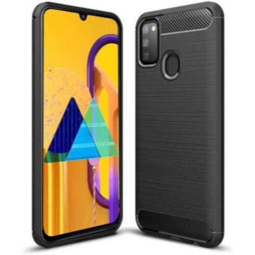 Samsung Galaxy M30s Back Cover Case Soft Hybrid Black Color 1