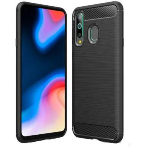 Samsung Galaxy M40 Back Cover Case Soft Hybrid Black Color 1