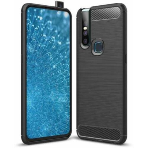Vivo V15 Pro Back Cover Case Soft Hybrid Black Color 1