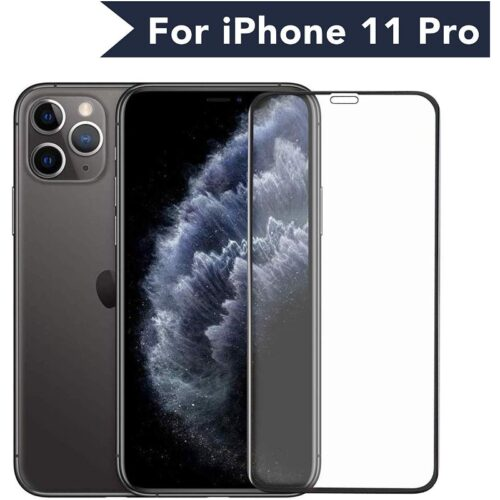 Tigerify Tempered Glass Screen Protector Full Glue 6D/11D Black For iPhone 11 Pro 1