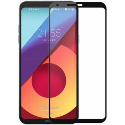 Tigerify Tempered Glass Screen Protector Full Glue 6D/11D Black For LG Q6 Plus 1