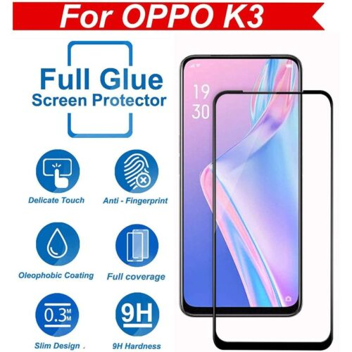 Tigerify Tempered Glass Screen Protector Full Glue 6D/11D Black For Oppo K3 1