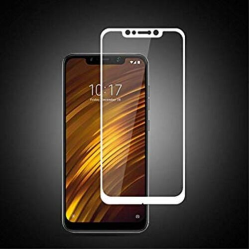 Tigerify Tempered Glass Screen Protector Full Glue 6D/11D White For Poco F1 1