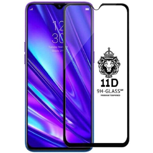 Realme 5 Tempered Glass Screen Protector 6D/11D Full Glue Black 1