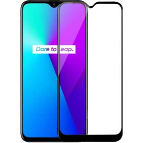 Tigerify Tempered Glass Screen Protector Full Glue 6D/11D Black For Realme 5 1