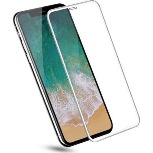 Apple iPhone X Tempered Glass Screen Protector 6D/11D Full Glue White 1