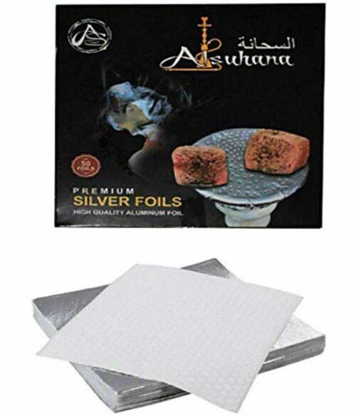 Hookah Sheesha Square Aluminium Foil Paper Premium Quality 50pieces