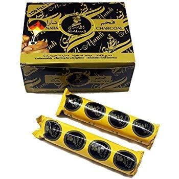Quick Light Magic Charcoal for Hookah Sheesha 2 Rolls (20 Disks)