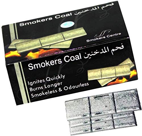 TIGERIFY Hookah Shisha Smokers Coal Long Burning Silver Brick Charcoal 60pieces