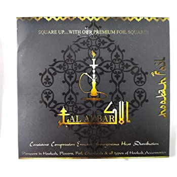 Hookah Sheesha Square Aluminium Foil Paper Premium Quality 50pcs