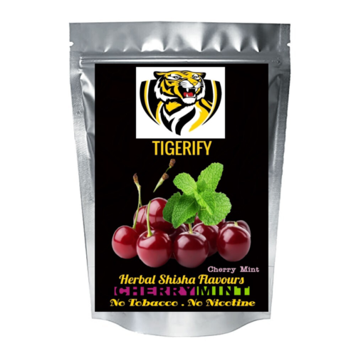 TIGERIFY High Quality Hookah Shisha Herbal CHERRY MINT Flavour 50grams 1