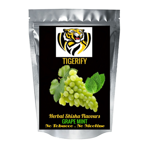 TIGERIFY High Quality Hookah Shisha Herbal GRAPE MINT Flavour 25grams 1