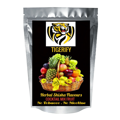 TIGERIFY High Quality Hookah Shisha Herbal COCKTAIL MIX FRUIT Flavour 50grams 1