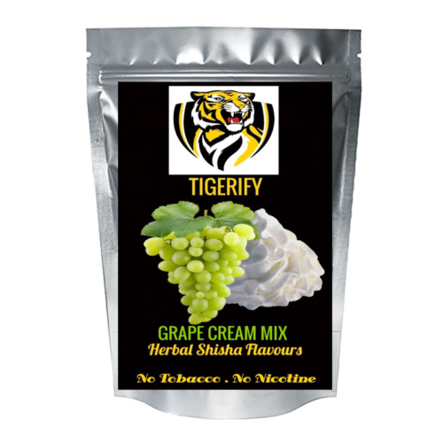 TIGERIFY High Quality Hookah Shisha Herbal GRAPE CREAM MIX Flavour 25grams 1