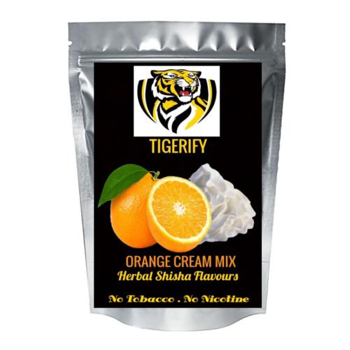 TIGERIFY High Quality Hookah Shisha Herbal ORANGE CREAM MIX Flavour 50grams 1