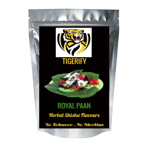 TIGERIFY High Quality Hookah Shisha Herbal ROYAL PAAN Flavour 50grams 1