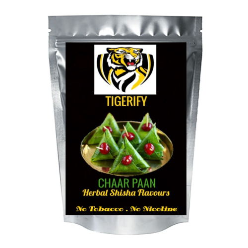 TIGERIFY High Quality Hookah Shisha Herbal CHAAR PAAN Flavour 50grams 1