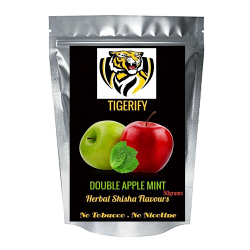 TIGERIFY Premium Quality Shisha Hookah Herbal DOUBLE APPLE MINT Flavour 50grams