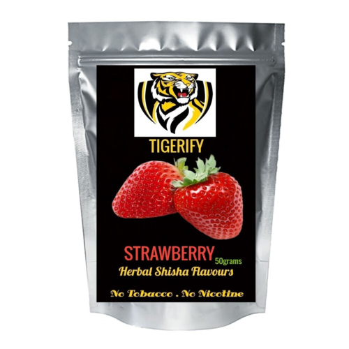 TIGERIFY Premium Quality Shisha Hookah Herbal STRAWBERRY Flavour 50grams