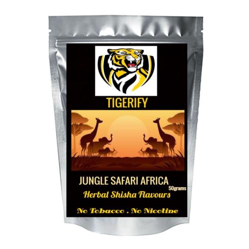 TIGERIFY Premium Quality Shisha Hookah Herbal JUNGLE SAFARI AFRICA Flavour 50grams