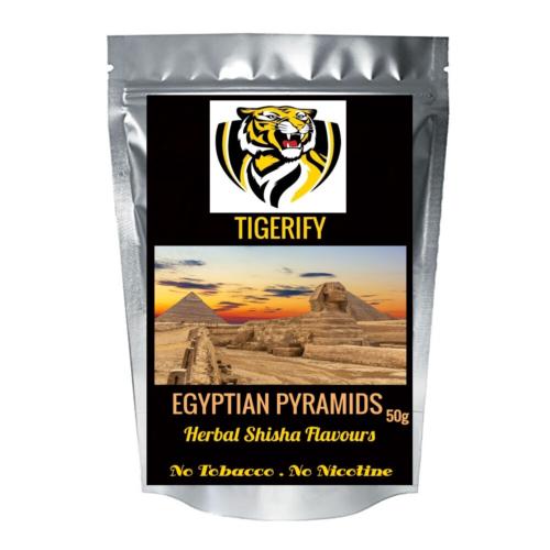 TIGERIFY Premium Quality Shisha Hookah Herbal EGYPTIAN PYRAMIDS Flavour 50grams