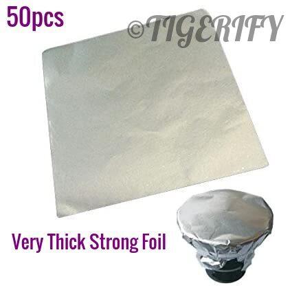 TIGERIFY Hookah Shisha Square Aluminium Foil Paper Premium Quality 50pcs