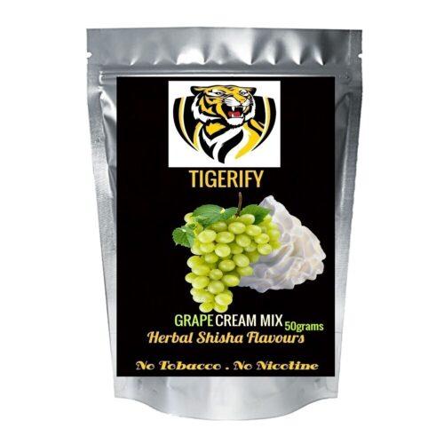 TIGERIFY Premium Quality Shisha Hookah Herbal GRAPE CREAM MIX Flavour 50grams