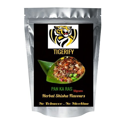 TIGERIFY Premium Quality Shisha Hookah Herbal PAN KA RAS Flavour 50grams