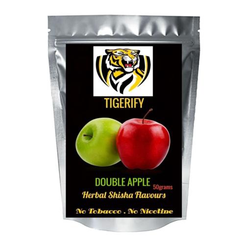 TIGERIFY Premium Quality Shisha Hookah Herbal DOUBLE APPLE Flavour 50grams