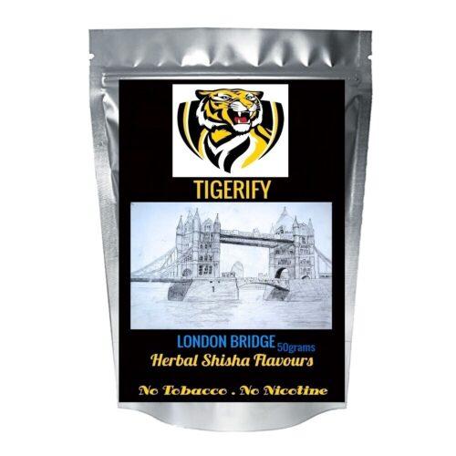 TIGERIFY Premium Quality Shisha Hookah Herbal LONDON BRIDGE Flavour 50grams