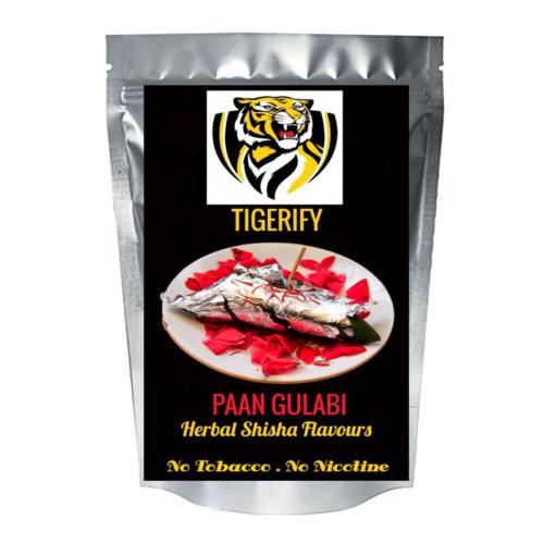 TIGERIFY Shisha Hookah Herbal PAAN GULABI Flavour 25grams 1
