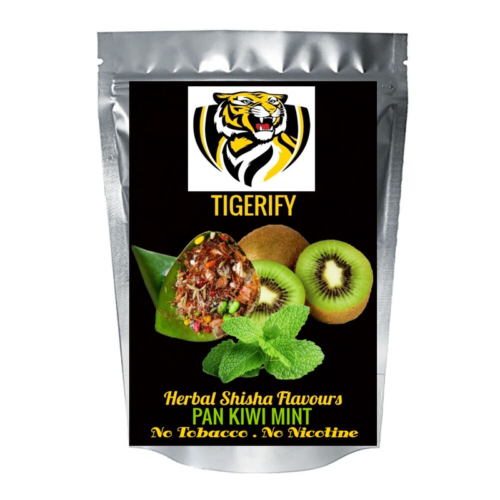 TIGERIFY Shisha Hookah Herbal PAAN KIWI MINT Flavour 50grams 1