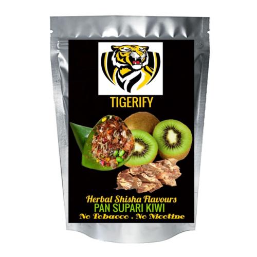 TIGERIFY Shisha Hookah Herbal PAAN SUPARI KIWI Flavour 50grams 1