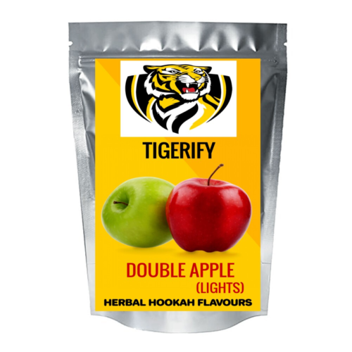 TIGERIFY Hookah Sheesha Herbal DOUBLE APPLE LIGHTS Flavour 50grams 1