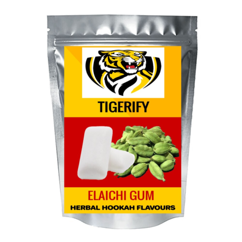 TIGERIFY Hookah Sheesha Herbal ELAICHI GUM Flavour 50grams 1