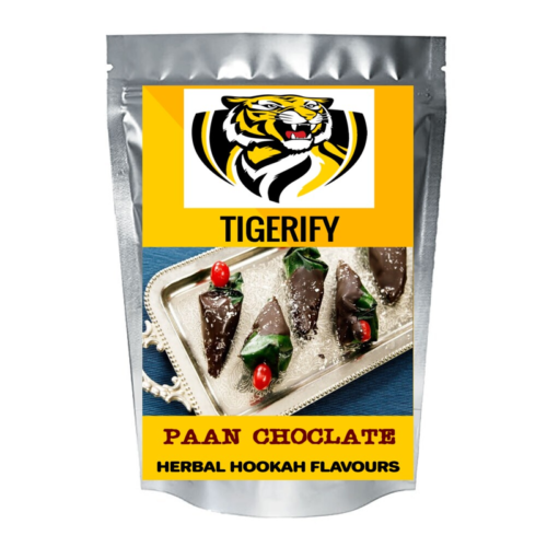TIGERIFY Hookah Sheesha Herbal PAAN CHOCOLATE Flavour 50grams 1