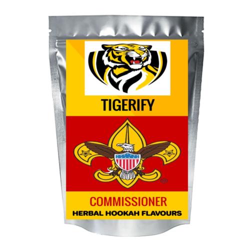 TIGERIFY Hookah Sheesha Herbal COMMISSIONER Flavour 25grams 1