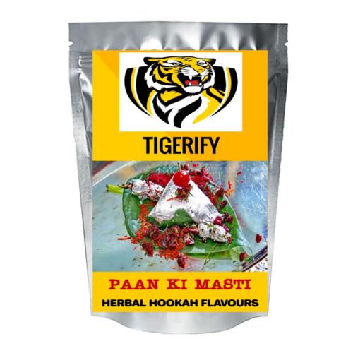 TIGERIFY Hookah Sheesha Herbal PAAN KI MASTI Flavour 50grams 1
