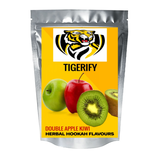 TIGERIFY Shisha Hookah Herbal KIWI DOUBLE APPLE Flavour 50grams 1