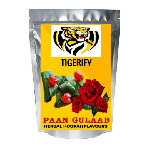 TIGERIFY Hookah Sheesha Herbal PAAN GULAAB Flavour 25grams 1