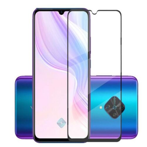 Tigerify Tempered Glass/Screen Protector for Vivo S1 Pro (Black Color) Edge To Edge Full Screen Coverage and Full Glue 1
