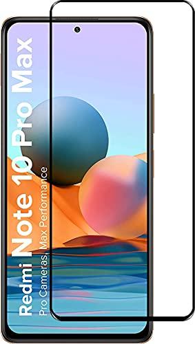 Tigerify Tempered Glass/Screen Protector Guard for Redmi Note 10 Pro Max (BLACK COLOR) Edge To Edge Full Screen 9D 1