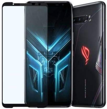 Tigerify Tempered Glass/Screen Protector for Asus ROG 1 (Black Color) Edge To Edge Full Screen Coverage and Full Glue 1