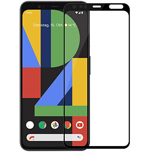 Tigerify Tempered Glass/Screen Protector Guard for Pixel 4XL (BLACK COLOUR) Edge To Edge Full Screen 1