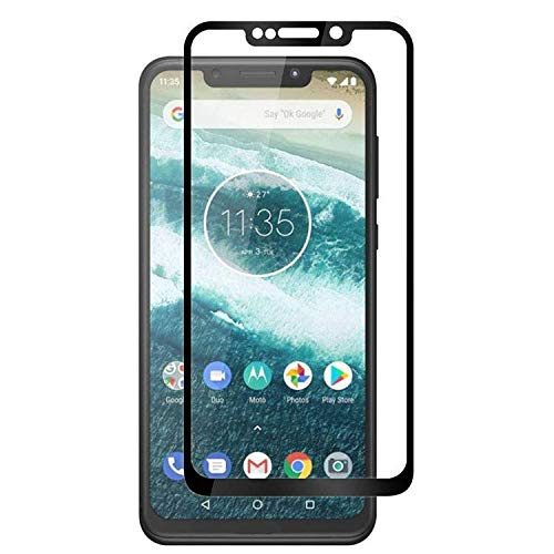 Tigerify Tempered Glass/Screen Protector for Moto One Power (Black Color) Edge To Edge Full Screen Coverage and Full Glue 1