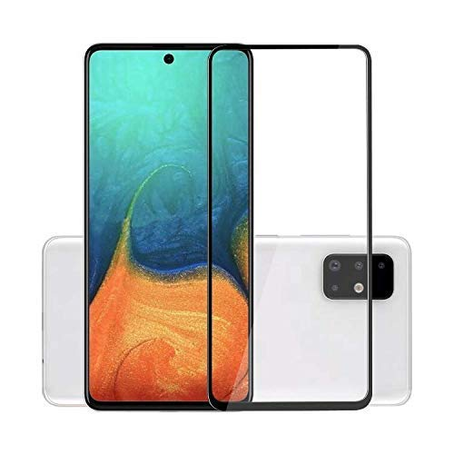 Tigerify Tempered Glass/Screen Protector for Samsung Galaxy A91 (Black Color) Edge To Edge Full Screen Coverage and Full Glue 1