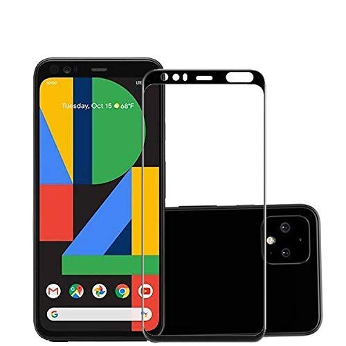Tigerify Tempered Glass/Screen Protector Guard for Pixel 4XL (BLACK COLOR) Edge To Edge Full Screen Coverage 1